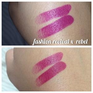 Comparação do Fashion Revival x Rebel da MAC