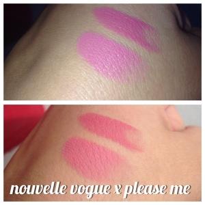 Comparação do Nouvelle Vogue x Please Me da MAC